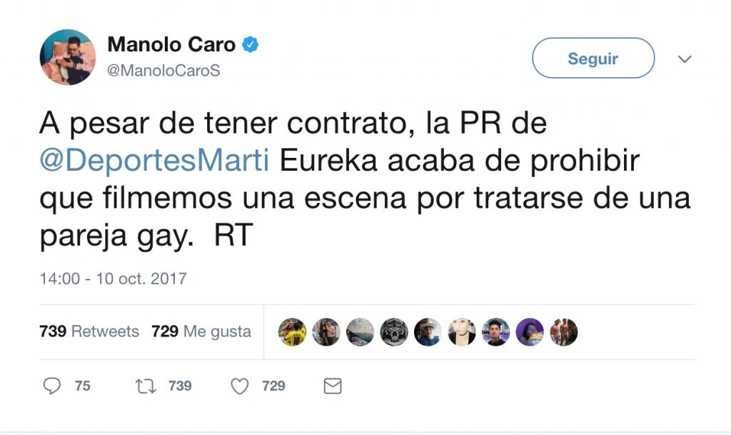 Martí discriminó a una pareja gay