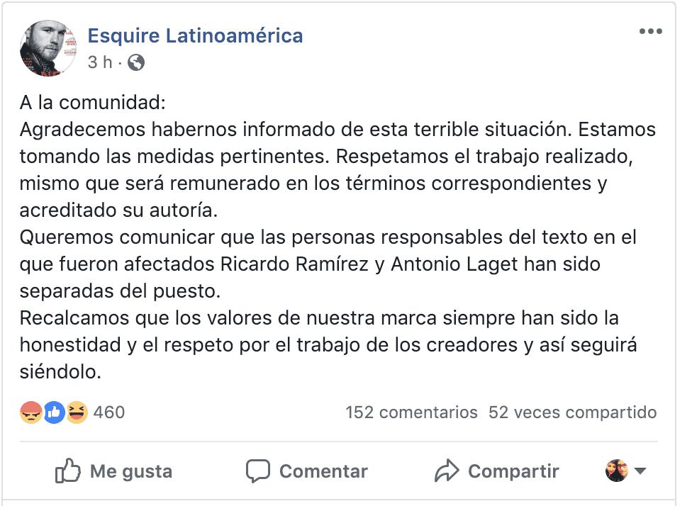 El plagio de Esquire y la evidente explotación laboral de periodistas en México